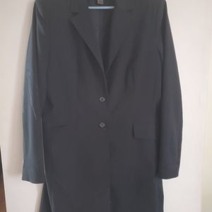 Long vintage black blazer